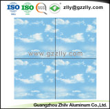 Soffitto di alluminio polimerico alla moda del metallo 2018 per il cielo Decorazione-Blu & la nube bianca