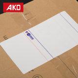 """escritura de la etiqueta blanca de la logística de las escrituras de la etiqueta de envío de la impresión """" *7.09 """" del trazador de líneas 3.94 del papel cristal 50g (100mm*180m m) suavemente modificada para requisitos particulares"""