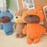 Drei Farben-Teddybär geformt, Spielwaren für Hunde klingend