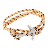 Armband van de Kabel van het Anker van de Juwelen DIY van de Kabel van de Vrouwen van mannen de Nylon Zilveren