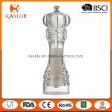 Moulin de poivre manuel en plastique de sel de faisceau en céramique de petite taille