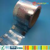 EPC Gen2資材管理のための受動UHF 9662 RFIDのラベル