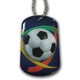 球のネックレスが付いている卸し売りカスタム金属のドッグタッグ