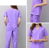 Costume de soins infirmiers de l'été Short Sleeve section mince manteau blanc Salon de beauté à manchon long esthéticienne uniformes