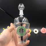 Bontek Starbucks di vetro all'ingrosso foggia a coppa per il tubo di acqua di fumo di vetro