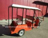 Triciclo eléctrico de tres ruedas para el pasajero