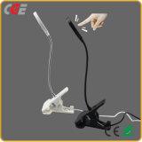 El clip vendedor caliente más nuevo de la lámpara de lectura del regalo de día de fiesta del escritorio Lamp4/5000 de la lámpara LED del libro del LED 2017, luz del escritorio de la lámpara de vector de la luz del vector del clip LED del USB