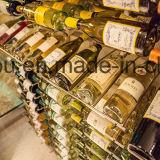 Cremalheira de indicador do vinho do frasco do metal da fileira da apresentação da série da adega de vinho