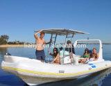 Liya 6.6mのガラス繊維の漁船の堅い外皮の膨脹可能なボート