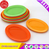 教育おもちゃの多色刷りの円形のプラスチック食糧皿