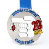 Nueva medalla conmemorativa del deporte y medalla de plata de la taza del trofeo del metal