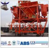 Auf Schienen beweglicher Zufuhrbehälter mit staubdichter Funktion