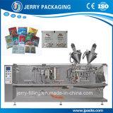 Doppio/macchinario gemellare multifunzionale orizzontale dell'imballaggio del pacchetto dei sacchetti
