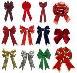 Venta al por mayor roja de la decoración del día de fiesta de la decoración del Bowknot de la Navidad