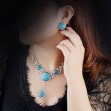 Nuevo conjunto de la joyería del oro blanco del saudí de la joyería de las señoras de la manera