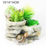 創造的な模造石造り様式の樹脂のSucculentの植木鉢
