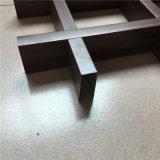 Populares de la certificación ISO impermeable blanco de grano de madera techo decorativo de aluminio