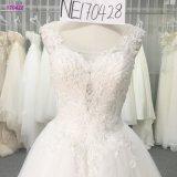 Роскошное безрукавный линия Bridal мантия с шнурком над линией шкафута
