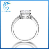 1.5 Cut Moissanite Diamond Silver 캐럿 공주 보석