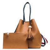 Borsa della ragazza dei sacchetti di acquisto della donna dell'unità di elaborazione di alta qualità del sacchetto della signora Tote di stile di modo da Guangzhou Fatory Sy8605