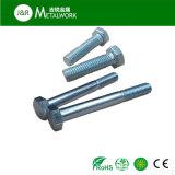 ANSI galvanisierte halbe Gewinde-Hex Kopf-Stahlschraube (DIN931)