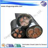 Os Multi-Núcleos 6kv XLPE isolaram o cabo distribuidor de corrente blindado grosso Sheathed PVC de fio de aço