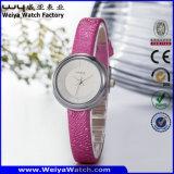 Armbanduhr der kundenspezifischen lederne Brücke-Quart-Geschenk-Damen (Wy-089D)