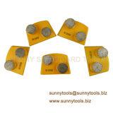 2개의 단추 세그먼트 Lavina 신속 변경 다이아몬드 가는 격판덮개