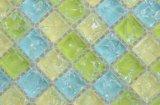 Colorido verde azul amarillo Mosaico de vidrio para la cocina Backsplash
