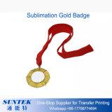 Золото пробела сублимации печатание передачи тепла/серебряный значок