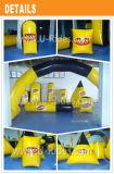 цветастые раздувные желтый цвет и чернота препоны Paintball