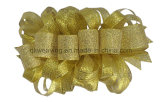 Goldmetallischer Butike-Haar-Klipp-Bogen für Geschenk-Verpackung