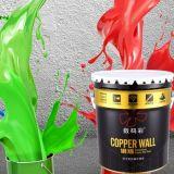 Não limpe o exterior para pintura na parede do Prédio de Escritórios