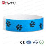 Wristband descartável impresso dos braceletes de RFID Tyvek