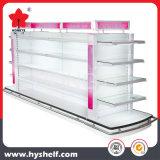 Étagère de supermarché de qualité pour l'étalage cosmétique avec le cadre d'éclairage LED