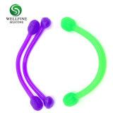 シリコーンのヨガの引きロープの適性の伸縮性があるロープ、ヨガの体操