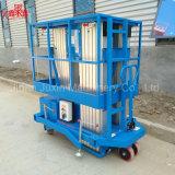hydraulische mobile doppelte Mast-Aluminiumlegierung-Luftarbeit-Aufzug-Plattform 10m-200kg