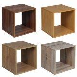 Monitor de cabeceira de madeira armário de cubos de armazenamento de estante