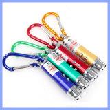 3 in 1 Miniweiße LED Taschenlampen-purpurroter heller Schlüsseluvkette des ROT-Laser-Zeiger-