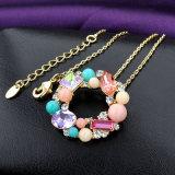 魅力の宝石類の多彩な石造りのたがのペンダントのネックレス