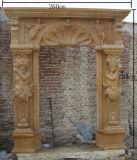 Камин домашнего украшения естественный каменный мраморный