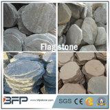 Pedra de pavimentação da paisagem cinzenta natural do Flagstone da ardósia
