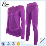 Les femmes en nylon polyester Couche de base sous-vêtement thermique pour le commerce de gros