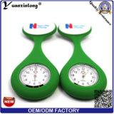 El reloj lindo de la broche de la enfermera del silicón de la venta caliente Yxl-948, broche Fob de las enfermeras del reloj del cuarzo de la jalea mira el reloj médico de la enfermera