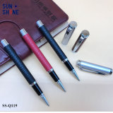 Crayon lecteur de métaux lourds de rouleau de cuir de vente en gros de crayon lecteur de cadeau