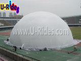 Weiße Kuppel Aufblasbare Fußballzelt