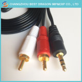 6FT Gold Plated 3RCA Male to 3RCA Male Video Audio Stereo AV Composite Cables