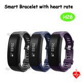 IP65 impermeabilizzano il braccialetto astuto con la frequenza cardiaca per il regalo H28 del portello