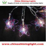 De LEIDENE van de Decoratie van de Partij van de Vakantie van Kerstmis van de ster Lichten van de Batterij