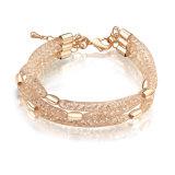 Armband van het Netwerk van de Gift van de Overeenkomst van het Huwelijk van de Armbanden van de Kop van de Wereld van de manier de Gouden Magnetische